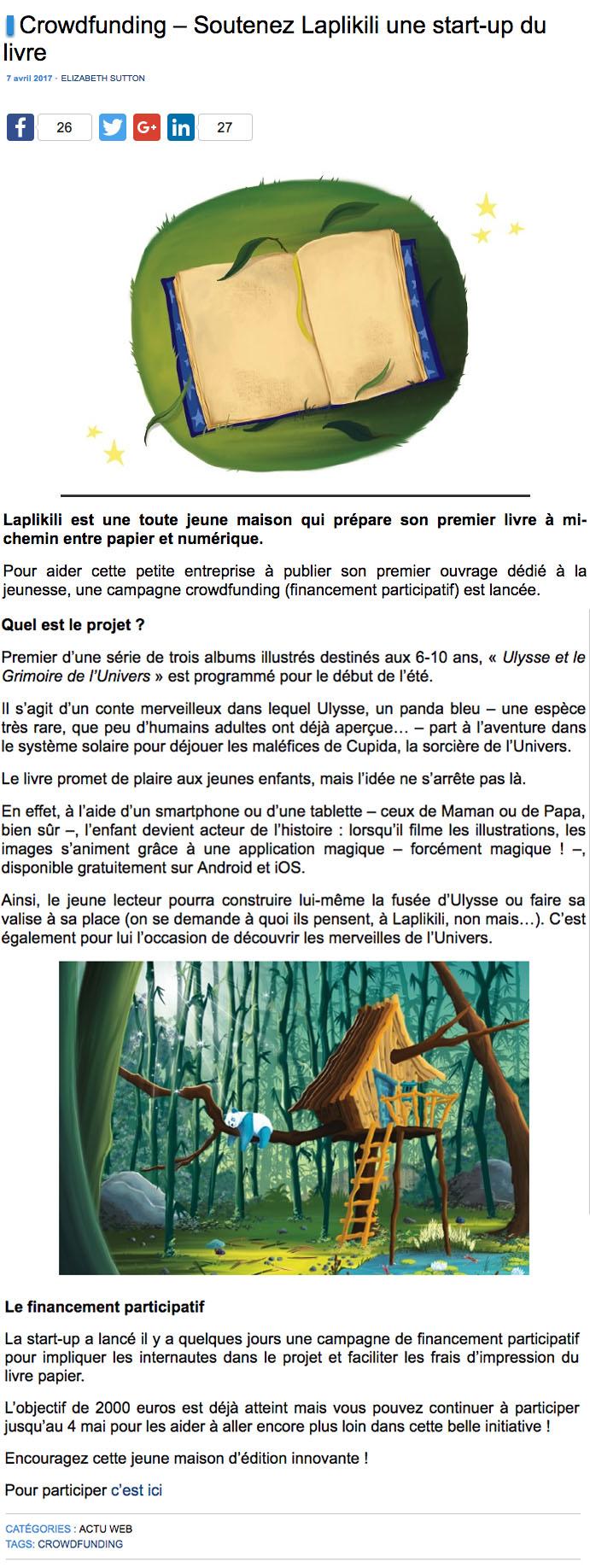 IDBOOX Article Ulule Laplikili Ulysse