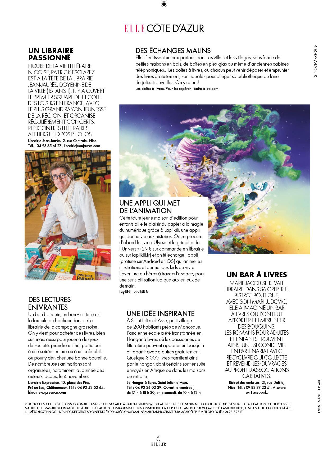 ELLE Magazine Côte d'Azur Laplikili Ulysse