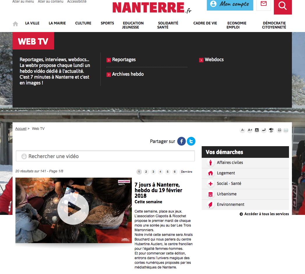 Nanterre Web TV - reportage laplikili médiathèques Ulysse