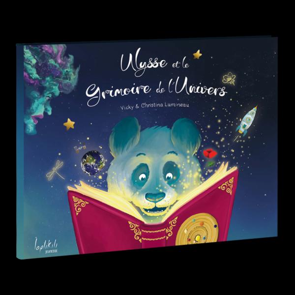 couverture Ulysse et le Grimoire de l'Univers - éditions Laplikili