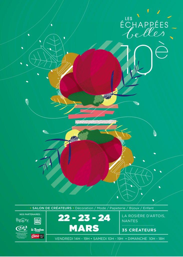 affiche echappées belles nantes printemps 2019 laplikili