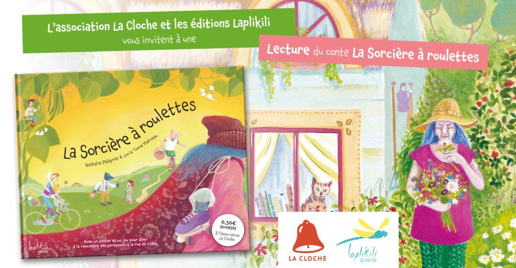 Lecture Sorcière à roulettes - éditions Laplikili